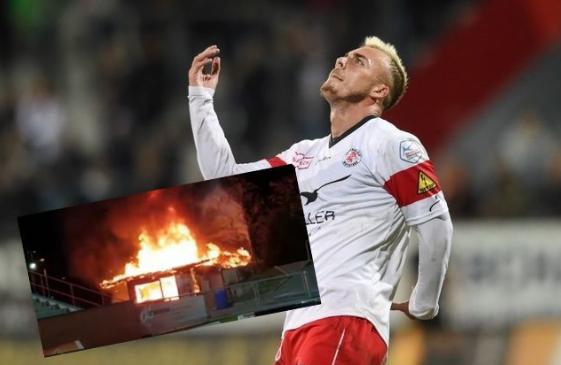 Ndërtesa merr flakë në stadium, futbollistin më në formë të Shqipërisë nuk e ndalon…asgjë!
