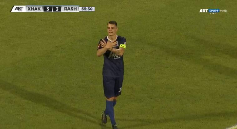 VIDEO/ Nuk e mban premtimin, Granit Xhaka ka festuar me shqiponjë pas golit